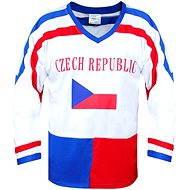 Hokejový dres ČR biely L