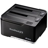 AKASA DuoDock X2 Black - External Docking Station