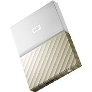 "WD 2.5"" My Passport Ultra Metal 4TB bílo/zlatý - Externí disk"