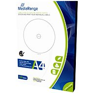MediaRange CD/DVD/Blu-ray Labels 15mm - 118mm white