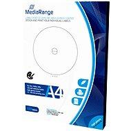 MediaRange CD/DVD/Blu-ray etikety 15mm - 118mm bílé, vysoký lesk - Samolepka