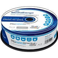 MediaRange BD-R (HTL) 50GB Dual Layer Inkjet Printable, 25ks cakebox