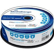 MediaRange BD-R (HTL) 25 GB, Inkjet Printable, 25 ks CakeBox