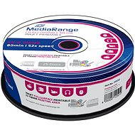 MediaRange CD-R Inkjet Fullsurface Printable 25pcs cakebox - Media