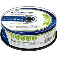 MediaRange DVD-R Inkjet Fullsurface Printable 25ks cakebox