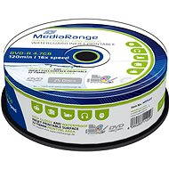 MediaRange DVD-R Waterguard Inkjet Fullprintable 25ks cakebox - Média