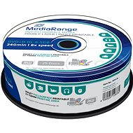 MediaRange DVD+R Dual Layer 8.5GB Injekt Printable, 25ks - Média