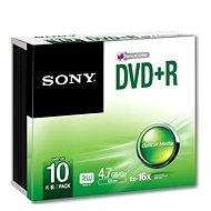 Sony DVD + R 10ks v SLIM krabičke
