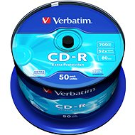 Verbatim CD-R 52x Datalife Schutz, 50pcs cakebox - Media