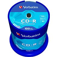 Verbatim CD-R DataLife Protection 52x, 100 ks cakebox