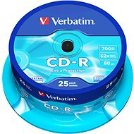 Verbatim CD-R DataLife Protection 52x, 25 ks cakebox