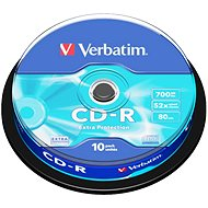 Verbatim CD-R DataLife Protection 52x, 10ks cakebox - Média