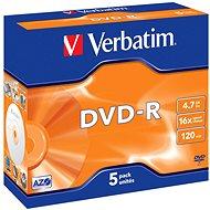 Verbatim DVD-R 16x, 5ks v krabičce - Média