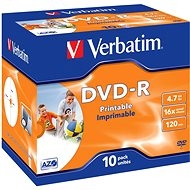 Verbatim DVD-R 16x Printable 10 Stück im Karton