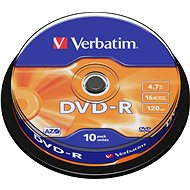 Verbatim DVD-R 16x, 10ks cakebox