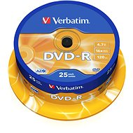 Verbatim DVD-R 16x, 25KS cakebox - Media