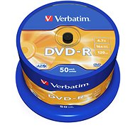 Médiá Verbatim DVD-R 16x, 50 ks cakebox