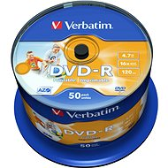 Verbatim DVD-R 16x, Printable 50ks cakebox - Média