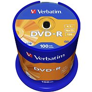 Verbatim DVD-R 16x, 100ks cakebox - Média