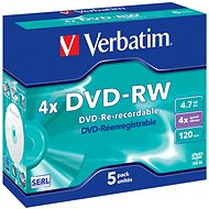 Verbatim DVD-RW 4x, 5ks v krabičke