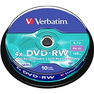 Verbatim DVD-RW 4x, 10ks cakebox - Media