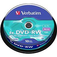 Verbatim DVD-RW 4x, 10ks CakeBox