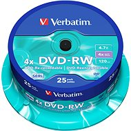 Verbatim DVD-RW 4x, 25ks cakebox