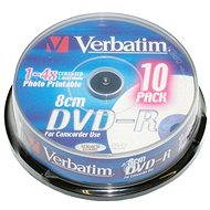 Verbatim DVD-R 4x, Printable MINI 8 cm 10 ks CakeBox