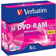 Verbatim DVD-RAM 3x, 5pcs in box
