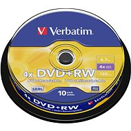 Verbatim DVD + RW 4x, 10pcs cakebox