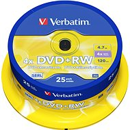 Verbatim DVD + RW 4x, 25pcs cakebox