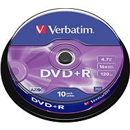 Verbatim DVD+R 16x, 10ks cakebox