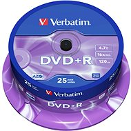 Verbatim DVD+R 16x, 25ks cakebox - Média