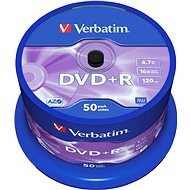 Verbatim DVD+R 16x, 50ks cakebox