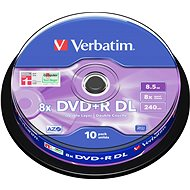 Verbatim DVD+R 8x, Dual Layer 10ks cakebox - Média
