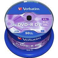 Verbatim DVD + R 8x, Dual Layer 50ks CakeBox - Médiá