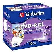 Verbatim DVD + R 8x Dual Layer Printable 10er in einem Karton