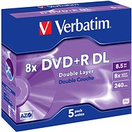 Verbatim DVD+R 8x, Double Layer 5pcs in box