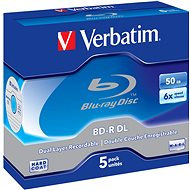 Verbatim BD-R Dual Layer 50 GB 6x, 5 pieces in a box