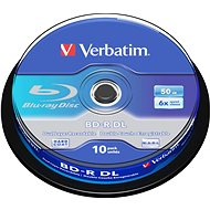 Verbatim BD-R 50GB Dual Layer 6x, 10ks CakeBox - Médiá