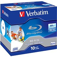 Verbatim BD-R 50GB Dual Layer Printable 6x, 10ks v krabičce