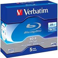 Verbatim BD-R LTH SL 25 GB 6x, 5 Stück