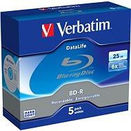 Verbatim BD-R 25 GB 6x Datalife, 5 Stück - Media