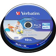 Verbatim BD-R SL 25GB Printable, 10ks cakebox - Média