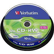Verbatim CD-RW 10x, 10ks cakebox - Médiá