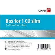 Vékony CD-borító, 1db - átlátszó, 5,2 mm - CD-tok