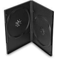 DVD tok, 2 lemez - fekete, 14 mm, 10 db/csomag - DVD tok