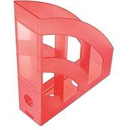 Helit Economy 75mm priesvitný červený - Stojan na časopisy