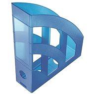 Helit Economy 75mm transparentná modrá - Stojan na časopisy