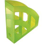 Helit Economy 75mm priesvitný zelený - Stojan na časopisy
